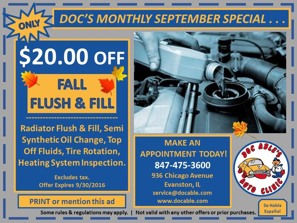 What Time Does Discount Tire Close >> View Our Specials & Coupons at Doc Able's Auto Clinic
